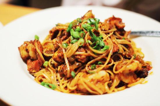 Cajun blackened shrimp pasta