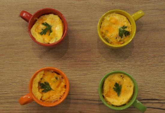 Meal prep microwave eggs